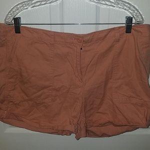 Salmon cargo shorts